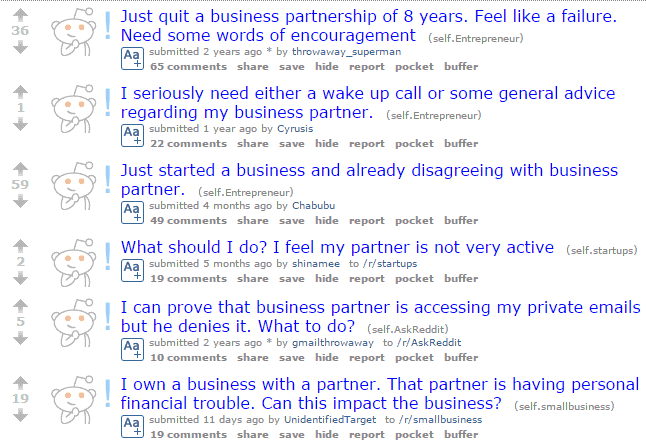Reddit Business Partner Problems
