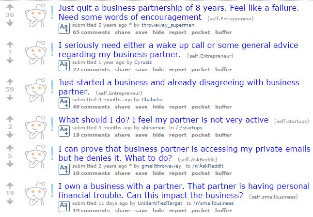 Reddit Business Partner Problems